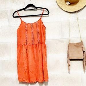 FINN& CLOVER • acid wash orange cut out sundress
